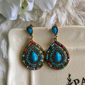 "Bedecked & Bedazzled Jewelry - ""Amina"" Dangle Boho Statement Earring"