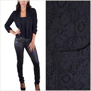 Black Lace Workwear Blazer