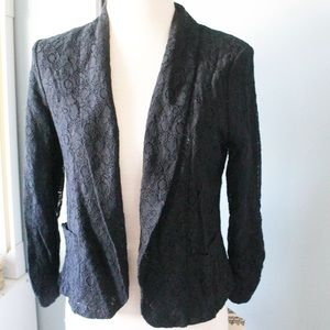 Black Lace Workwear Blazer