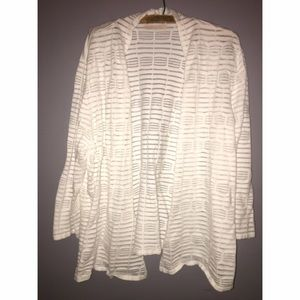 White Plus Size Jacket Sz 2X