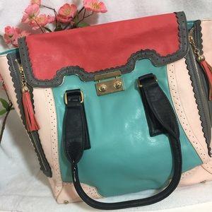 Nila Anthony Handbags - Nila Anthony Color Block Bag