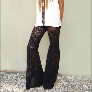 Nightcap Pants - Nightcap black Spanish lace