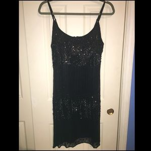 Pisarro Nights Dresses & Skirts - Flapper Style Black Sequined and Beaded Dress