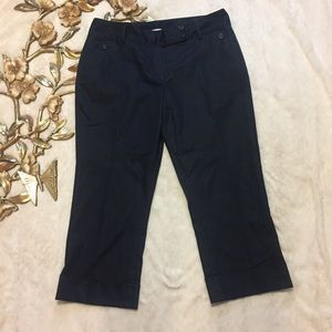 T Tahari Pants - Tahari Chambray Cropped Pants Size 10