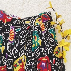 Vintage Dresses & Skirts - Vtg 90s Patterned Skirt