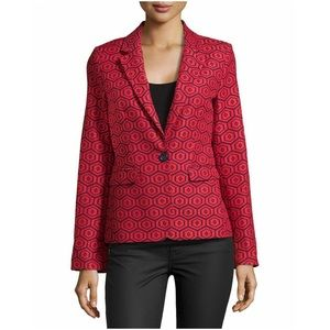 Alice + Olivia Jackets & Blazers - 30%OFF BUNDLE Alice & Olivia Red Print Blazer EUC