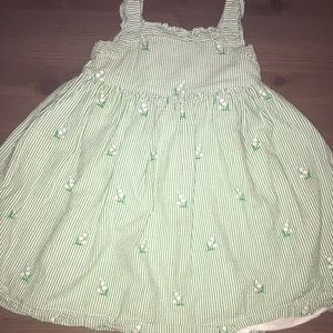 Janie and Jack Other - Janie and Jack Green and White Striped Dress - 2T