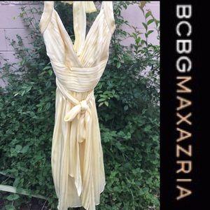 BCBG Max Azria Silk  short halter dress