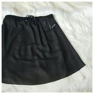 Analili Dresses & Skirts - Analili Layered Black & White Skirt or Tube Top