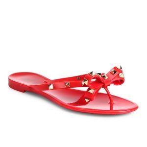 Valentino Shoes - Valentino Rockstuds Flip Flops