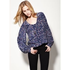 Winter Kate Tops - Winter Kate Moonbeam Blue print blouse
