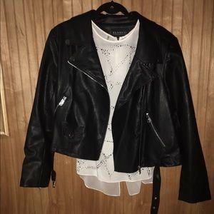 Eloquii Jackets & Blazers - 🆕Eloquii Leather Moto Jacket Sz 18