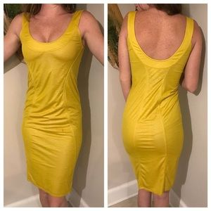 Helmut Lang Dresses & Skirts - Helmut Lang yellow fitted cocktail dress sz Small