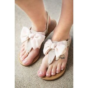 naughty monkey Shoes - Bow Nude Thong Sandal