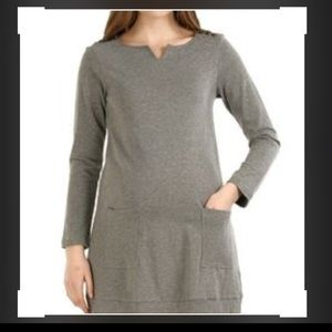 Momo Maternity Tops - Momo Maternity Grey Tunic