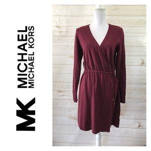 Michael Kors Wrap Sweater Dress Size M