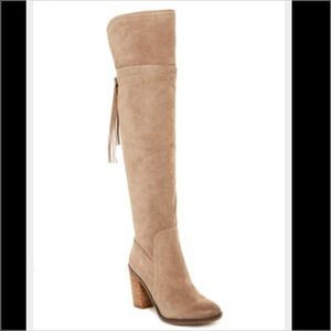 Franco Sarto Shoes - NEW Franco Sarto Ellyn Over the Knee Boots Suede 7