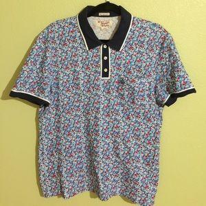 Original Penguin Other - Penguin Polo Shirt Collar - Sz L Slim Fit, Floral