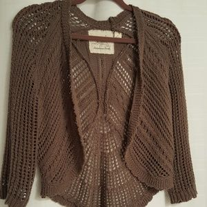 Angel of the north Sweaters - Angel of the North cropped crochet sweater shrug