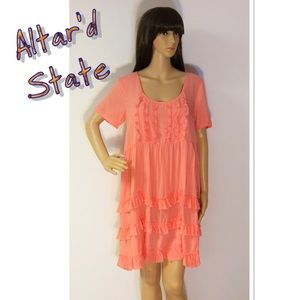 Altar'd State Dresses & Skirts - 🎈OFFER $29 🎈ALTAR'D STATE CORAL TUNIC/DRESS