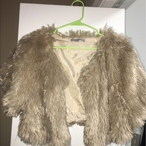 August Hats Jackets & Blazers - ny collection NWT faux fur vest  *SIZE LARGE*