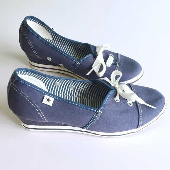 a1cd586f56ea11 Converse Shoes - Converse One Star Navy Blue Wedge