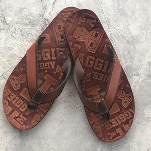 🇺🇸Texas A&M Fossil Flip Flops