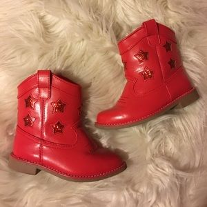 Gymboree Other - Gymboree Red Cowgirl Boots - 6