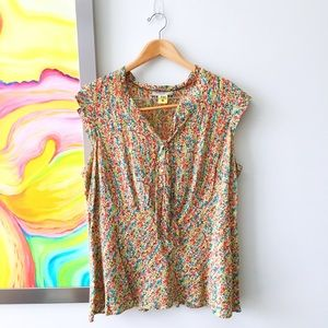 Nine West Tops - NINE WEST Abstract Floral Blouse