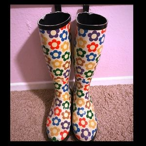 Colors of California Shoes - Cute and Colorful Flower Rain Boots