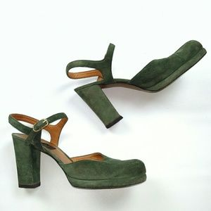 Casadei Shoes - Vintage Casadei Green Suede Leather Shoes Italy