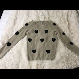 LC Lauren Conrad heart patches sweater