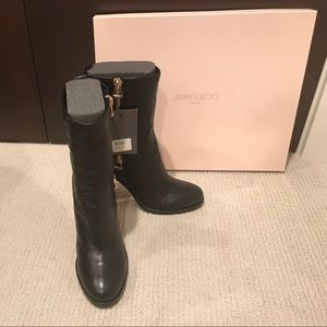 Jimmy Choo Shoes - Jimmy Choo black Dawson biker boots