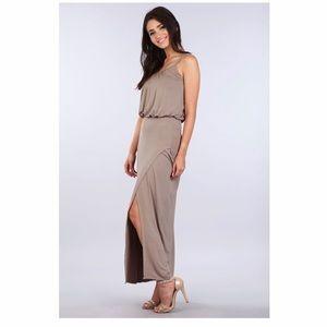 Dresses & Skirts - Solid Adjustable Strap Subugi Maxi - Dark Mocha