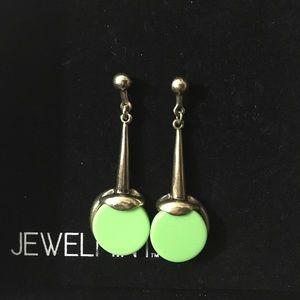 Green & Gold Art Deco Earrings