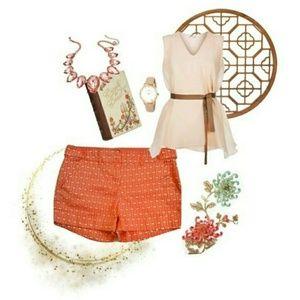 New York & Company Pants - EUC {New York & Co} Orange Soda Tab Shorts
