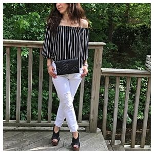 Tops - 🆕 off the shoulder striped top