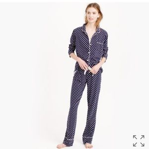 J. Crew Other - J. Crew Dreamy Cotton PJ Set in Dot