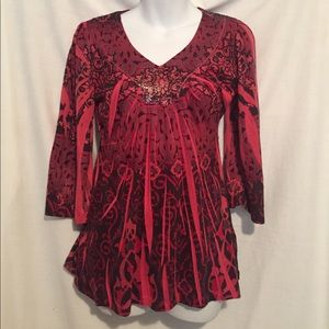 Unity Tops - Sequined red blouse - Unity