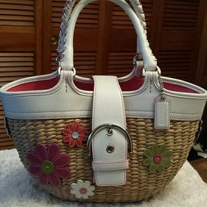 Coach  Handbags - Coach Straw Flower Daisy Purse Limited Ed