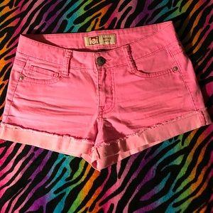 💥Lei neon pink shorts NWOT✨