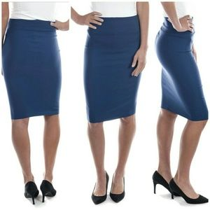 Forever Young  Dresses & Skirts - Professional Women Pencil Skirt, d-1114, Teal