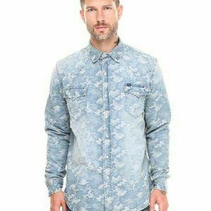 Cult of Individuality Other - 😎 CULT OF INDIVIDUALITY Clint Western Denim Shirt