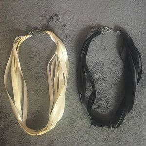 Jewelry - NWOT LOT of 4 fabric necklaces