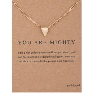 Dogeared Jewelry - You Are Mighty Shield Necklace