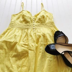 GAP Dresses & Skirts - Gap yellow sundress with spaghetti straps