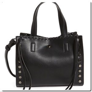 Handbags - Studded Faux Leather Crossbody