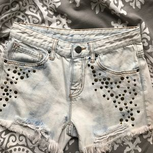 Urban Outfitters Pants - URBAN OUTFITTERS DENIM STUDDED SHORTS