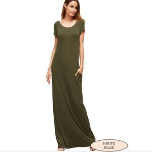 Haute Ellie Dresses & Skirts - 🆕 Avocado Get-Away Pocketed Maxi Dress