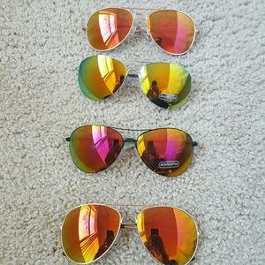 Accessories - Aviator Metal Frame Mirrored Lenses